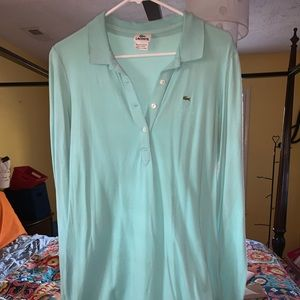Lacoste Long Sleeve Polo Dress Size 44 Gently Used